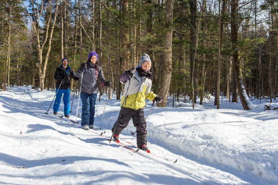 Jouvence Famille Hiver Ski De Fond